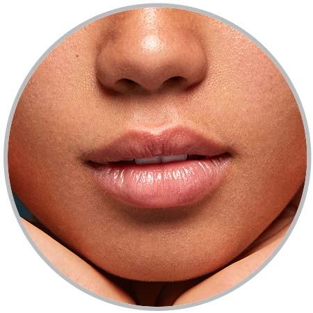 cheeks lips
